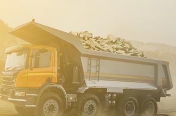 caminhão basculante, segurança caminhoneiros